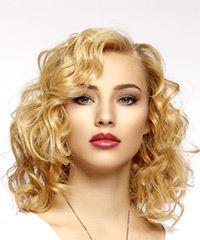 Medium Curly Casual  - Light Blonde (Golden)