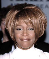Whitney Houston Hairstyle - click to view hairstyle information