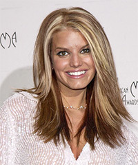 Jessica Simpson Long Straight Casual  - Light Brunette (Chestnut)