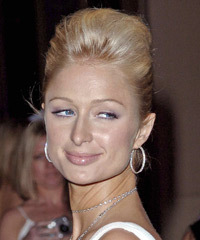 Paris Hilton Updo Medium Straight Formal