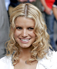 Jessica Simpson Medium Curly Casual