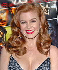 Isla Fisher Long Wavy Formal