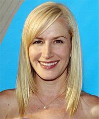 Angela Kinsey - Long Straight