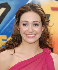 Emmy Rossum - Half Up Long Curly
