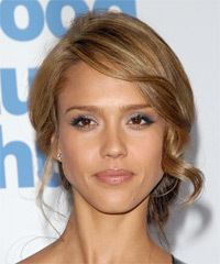 Jessica Alba - Updo Long Wedding