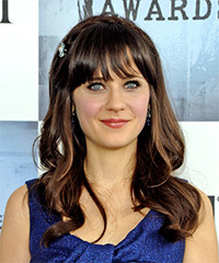 Zooey Deschanel Hairstyle - click to view hairstyle information