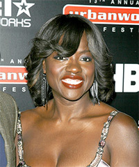 Viola Davis Hairstyle - click to view hairstyle information