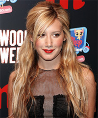 Ashley Tisdale Half Up Long Curly Casual