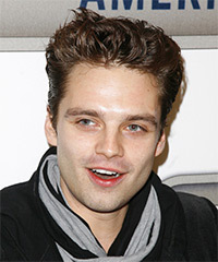 Sebastian Stan Hairstyle - click to view hairstyle information