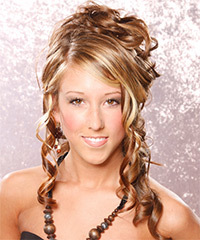 Half Up Long Curly Formal