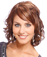 Formal Medium Wavy Hairstyle