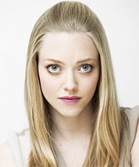 Amanda Seyfried Half Up Long Straight Casual