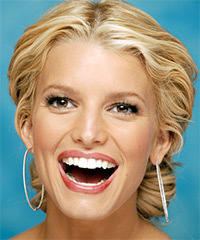 Jessica Simpson Updo Long Curly Formal Wedding