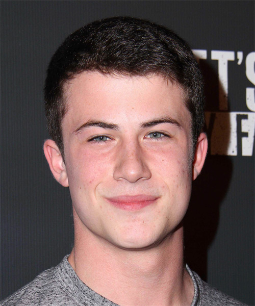 Dylan Minnette Short Straight Casual Hairstyle Dark Brunette