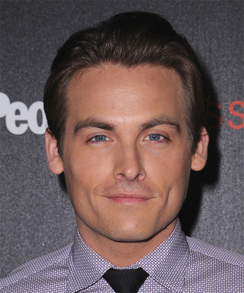 Kevin Zegers Short Straight Formal    Hairstyle   - Dark Brunette Hair Color