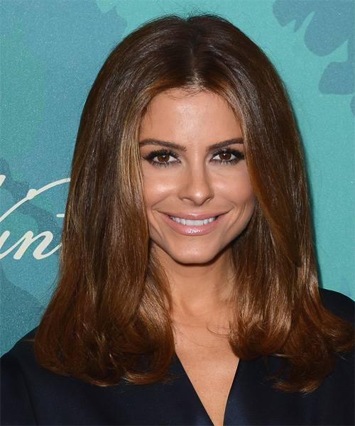 Maria Menounos Medium Straight Casual   Hairstyle   - Medium Brunette