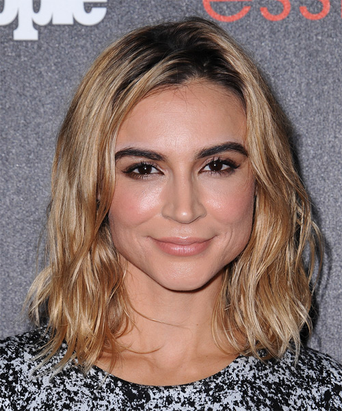 Samaire Armstrong Medium Straight Casual   Hairstyle   - Medium Blonde (Golden)
