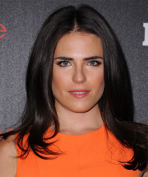 Karla Souza Long Straight Formal   Hairstyle   - Dark Brunette