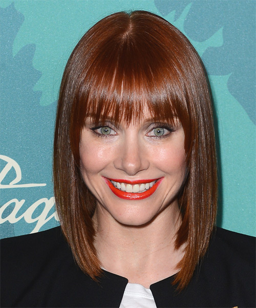 Bryce Dallas Howard Medium Straight Formal   Hairstyle   - Medium Red