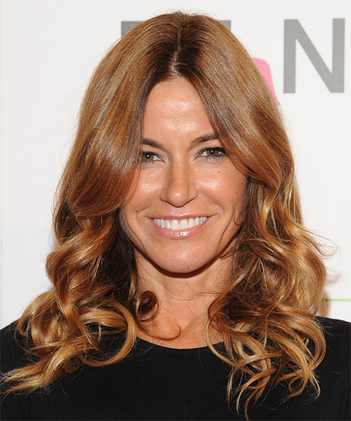 Kelly Bensimon Long Wavy Formal   Hairstyle   - Medium Brunette (Copper)