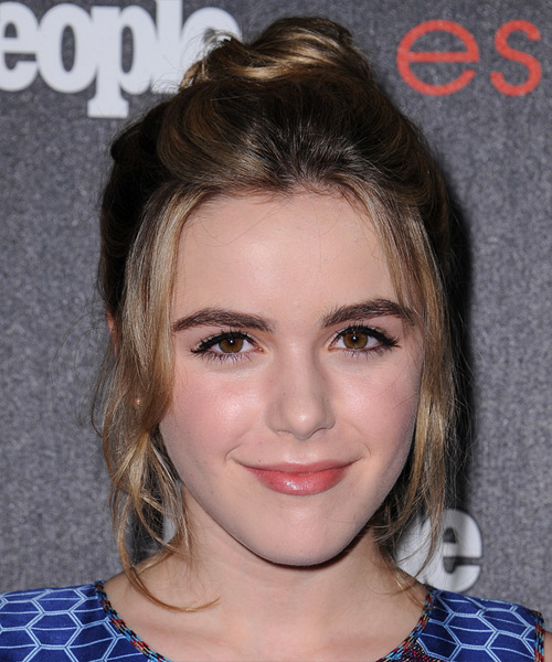 Kiernan Shipka Long Straight Casual  Updo Hairstyle   - Dark Blonde