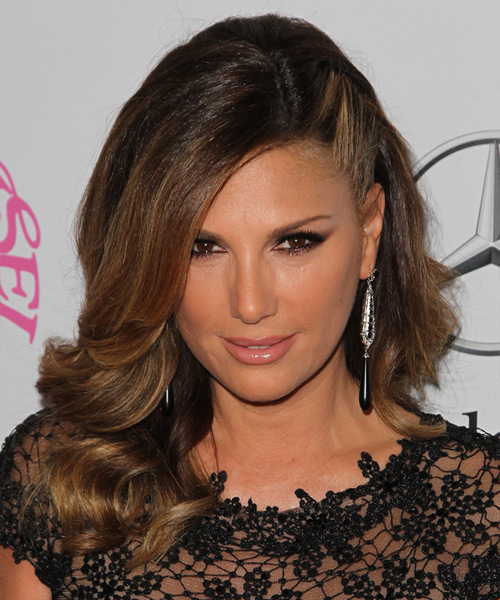 Daisy Fuentes Long Wavy Formal   Hairstyle   - Dark Brunette (Mocha)
