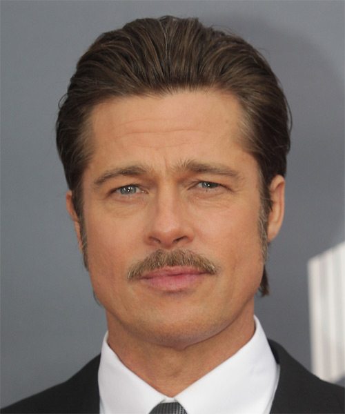 Brad Pitt Short Straight Formal    Hairstyle   -  Ash Brunette Hair Color