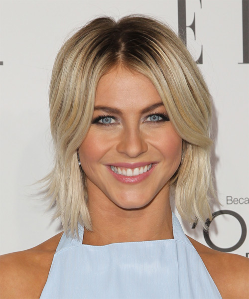 Julianne Hough Medium Straight   Light Blonde   Hairstyle