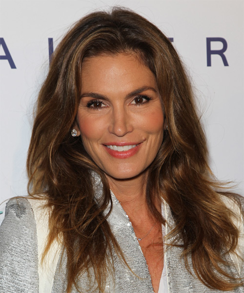 Cindy Crawford Long Straight Casual   Hairstyle   - Dark Brunette