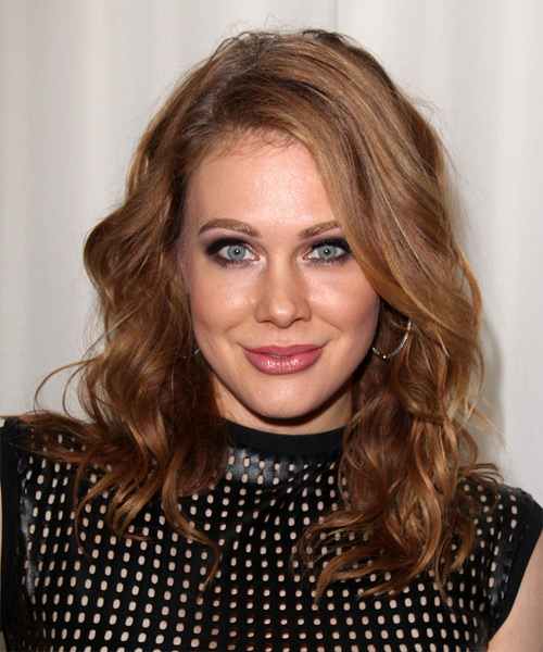 Maitland Ward Long Wavy Casual   Hairstyle   - Medium Brunette (Auburn)