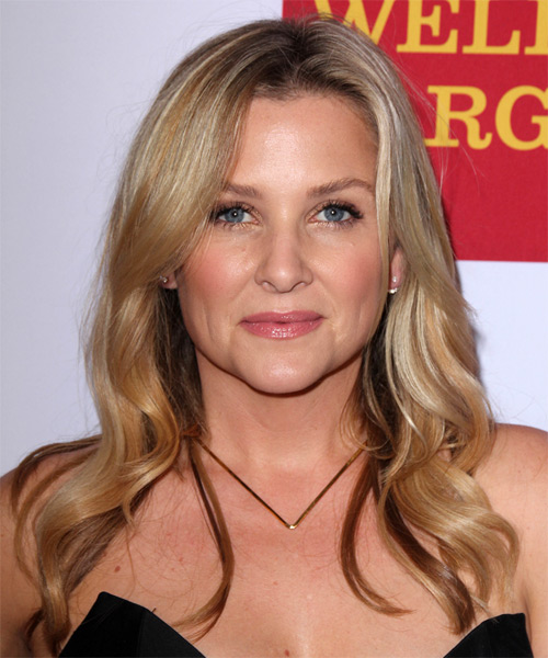 Jessica Capshaw Long Wavy Casual   Hairstyle   - Medium Blonde