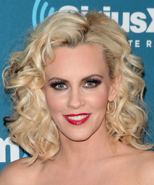 Jenny McCarthy Medium Curly   Light Blonde   Hairstyle