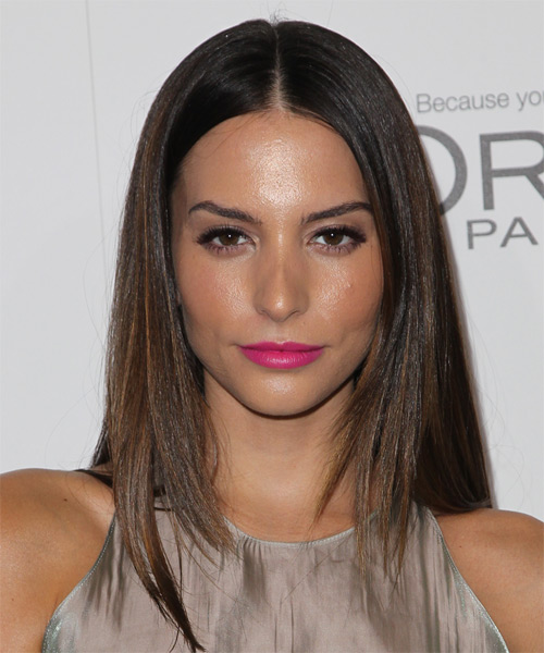 Genesis Rodriguez Long Straight Formal   Hairstyle   - Medium Brunette