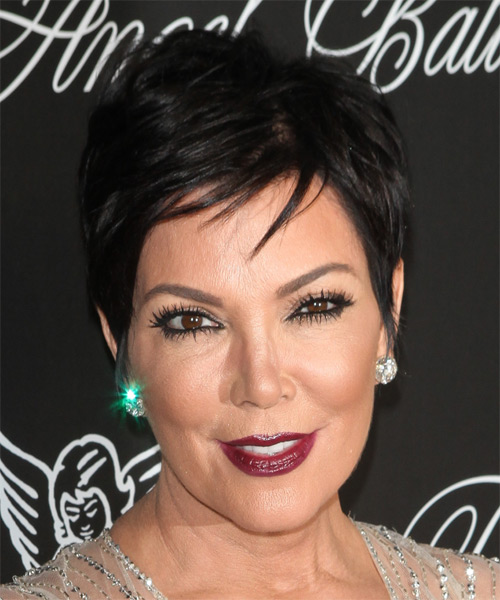 Kris Jenner Short Straight Casual   Hairstyle   - Black