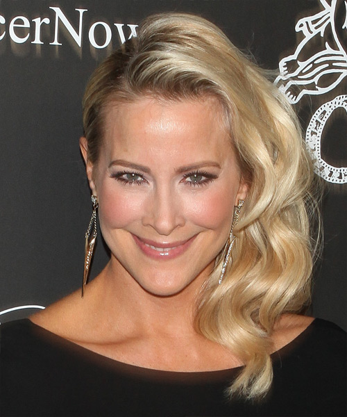 Brittany Daniel Formal Long Wavy Hairstyle Light Golden
