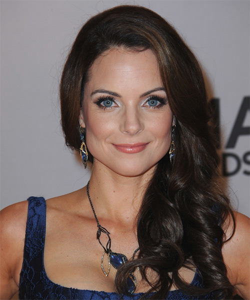 Kimberly Williams Long Wavy Formal   Hairstyle   - Dark Brunette