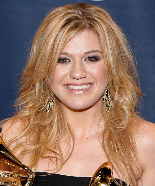 Kelly Clarkson Long Wavy Casual    Hairstyle