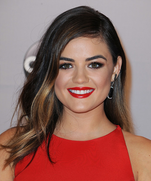 Lucy Hale Long Straight Casual   Hairstyle   - Dark Brunette