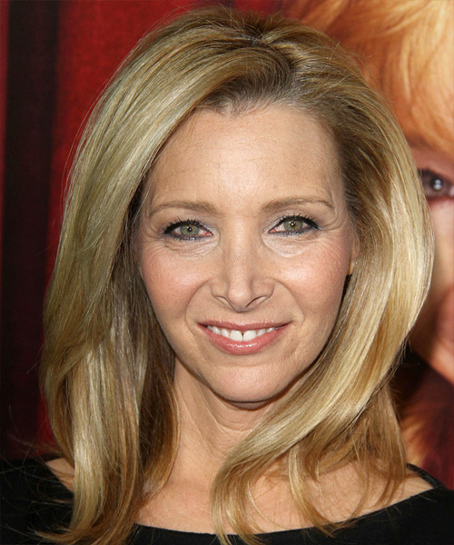 Lisa Kudrow Medium Straight Formal   Hairstyle   - Medium Blonde