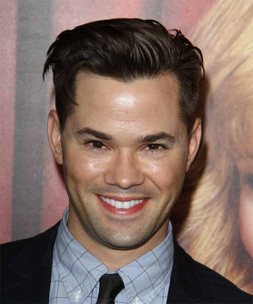 Andrew Rannells Short Straight Formal   Hairstyle   - Dark Brunette (Ash)
