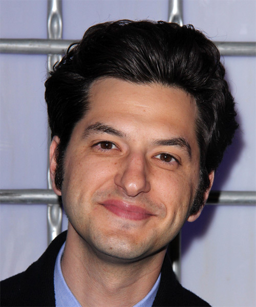 Ben Schwartz Short Straight Formal   Hairstyle   - Black (Ash)