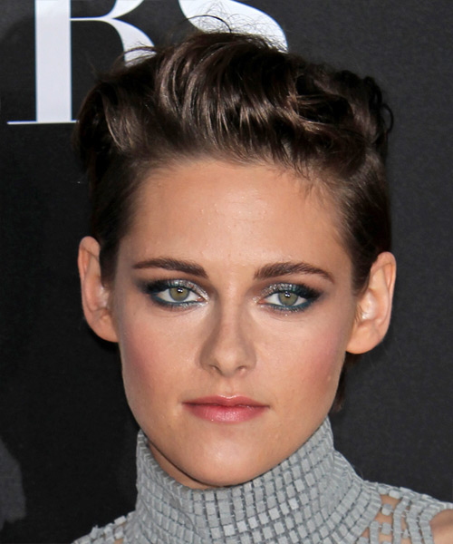 Kristen Stewart Short Straight Casual    Hairstyle   - Dark Brunette Hair Color