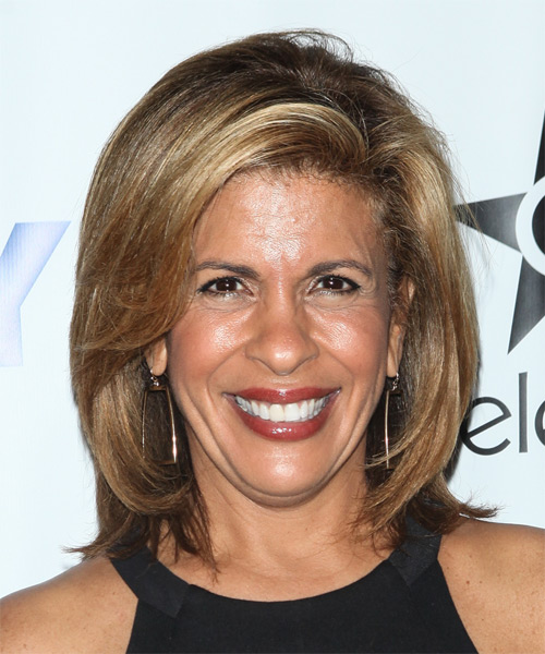 Hoda Kotb Medium Straight Casual   Hairstyle   - Light Brunette