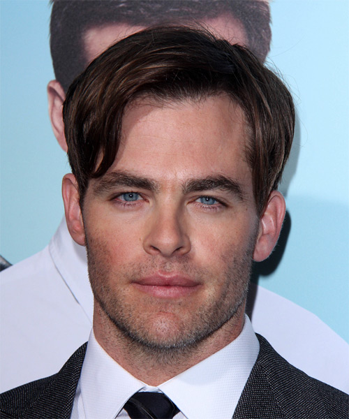 Chris Pine Short Straight Formal   Hairstyle