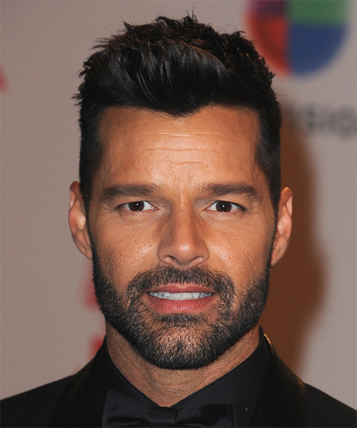 Ricky Martin Short Straight Casual Hairstyle Black