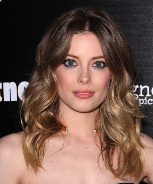 Gillian Jacobs Long Wavy Casual   Hairstyle   - Medium Brunette (Chocolate)