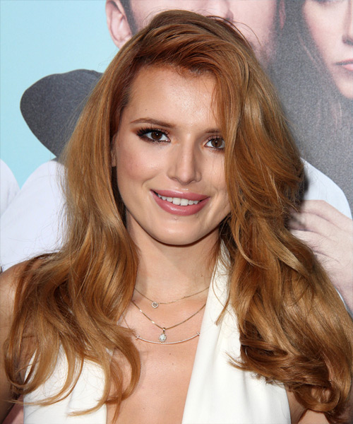 Bella Thorne Long Straight Casual   Hairstyle   - Light Red