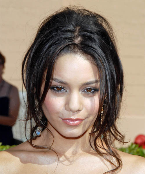 Vanessa Hudgens  Long Curly Casual   Updo Hairstyle