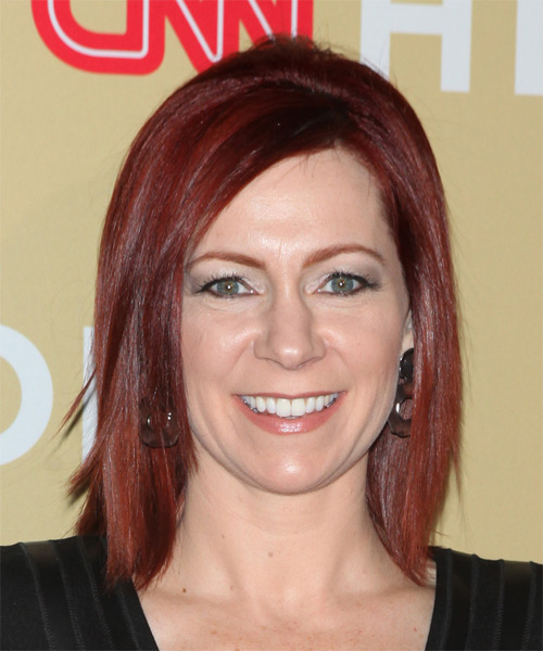 Carrie Preston Medium Straight Casual   Hairstyle   - Medium Red