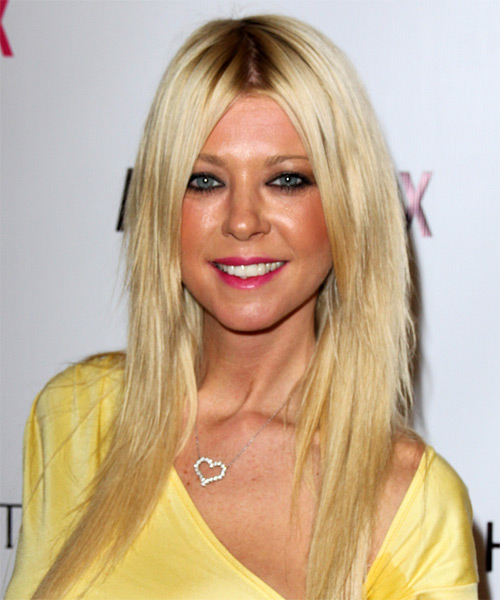 Tara Reid Long Straight Casual    Hairstyle   - Light Golden Blonde Hair Color